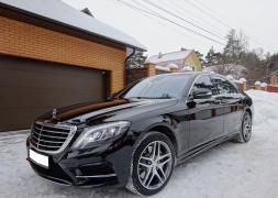 Аренда авто с водителем в Минске. Mercedes W222 S500 Long