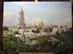 """Attention! Beautiful oil painting of the Kiev - Pechersk Lavra!"""