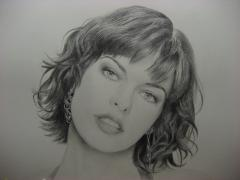 Attention!!!Portrait of American actress Milla Jovovich 50/70cm