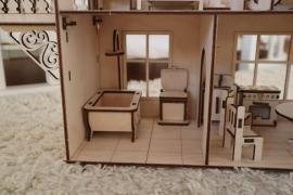 Домик для LOL с мебелью и подвижным лифтом