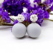 Earrings studs matte