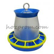 Hopper feeder for poultry