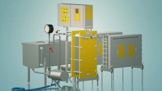 Milk pasteurizer for cheese production 3 t / h UZM-3.0P