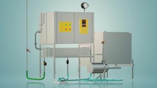 Пастеризатор молока емкостной на 300 л УЗМ-0,3Е
