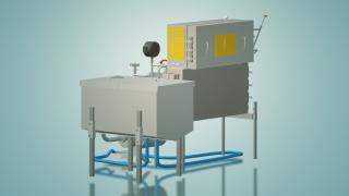 Пастеризатор молока проточний на 200 л УЗМ-0,2