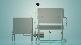 Пастеризатор молока ємнісний на 300 л УЗМ-0,3Е