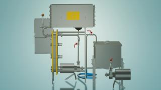 Pasteurizer for wine and juice for hot filling 1 t / h UZM-1,0GR