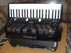 Roland FR-7X Accordion/Gibson L5 Double Cut Electric Guitar