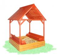 Sandbox with canopy and cover color 150х150см