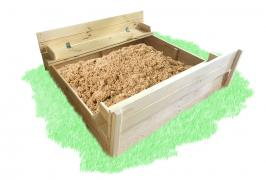 Sandbox with lid for painting