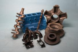 Serial production of castings made of cast iron