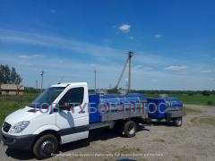 Sewage trucks - water carriers, milk trucks, fish trucks, and other cars