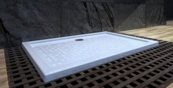 Shower tray in cast marble