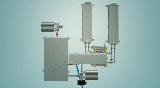 The milk pasteurizer for cheese production 3 t/h UZM-3.0 P
