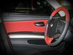 Tuning Internal Padding trim steering leather leatherette perforation