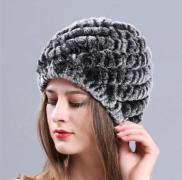 Winter hats from rabbit fur. Fur hats