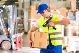 Worker in a logistics warehouse (Poland)