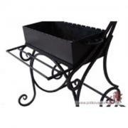 Wrought iron grill with roof available, grill, barbecue roof