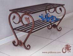 Wrought iron shelf for shoes in stock, a shelf for shoes