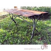 Wrought iron table Bamboo in stock, table, table for garden